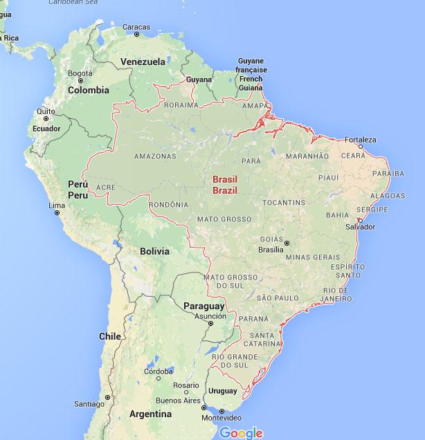 brazilie plattegrond